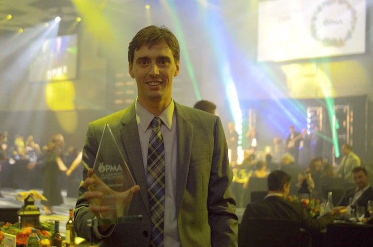 Matt Ecker Receives OPMA Fresh Award