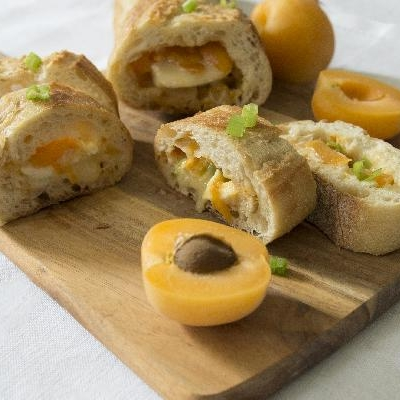 Ontario Apricot and Brie Stuffed French Baguette