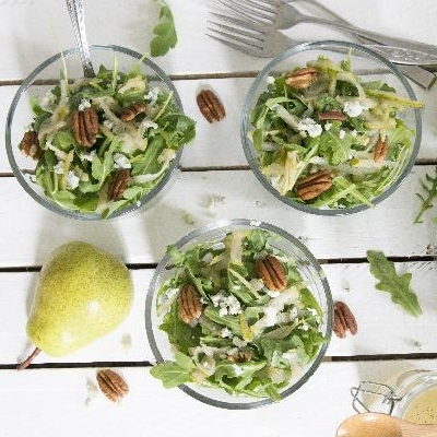 Ontario Pear, Blue Cheese and Candied Pecan Salad
