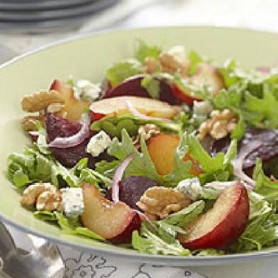 Savoury Ontario Plum Salad
